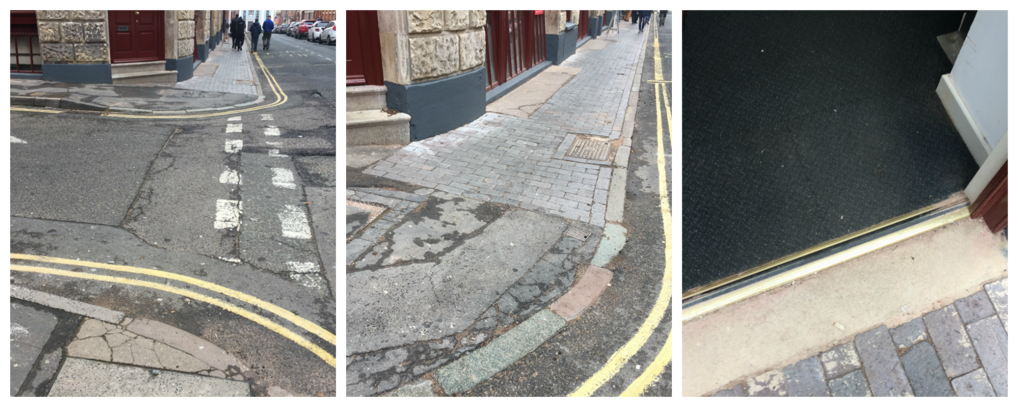 images of pavement on approach to Hive