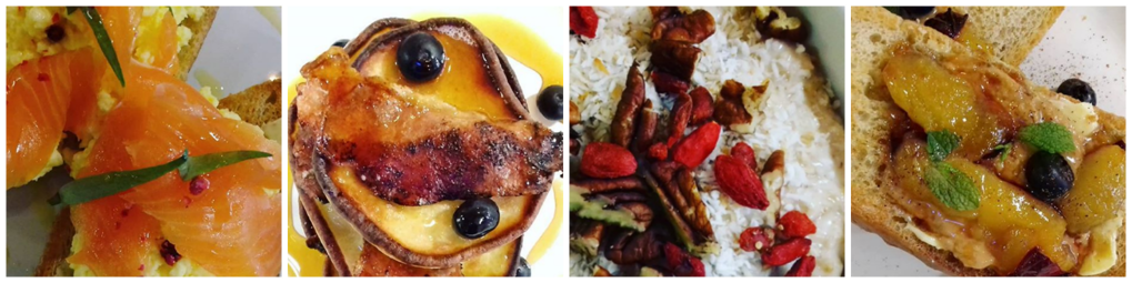 Image of breakfast dishes served at The Hive