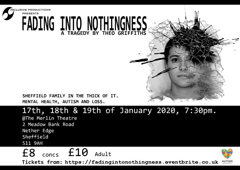 Fading Into Nothingness promotion banner displaying times of performance