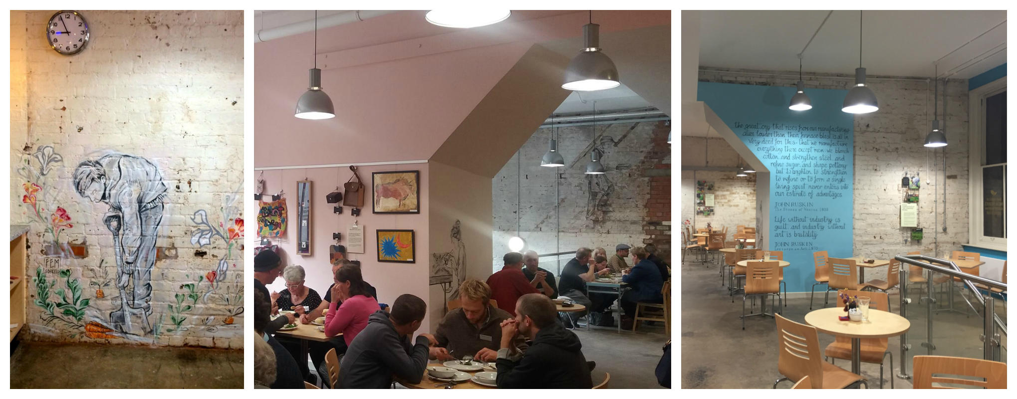 Images of The Hive cafe from different angles