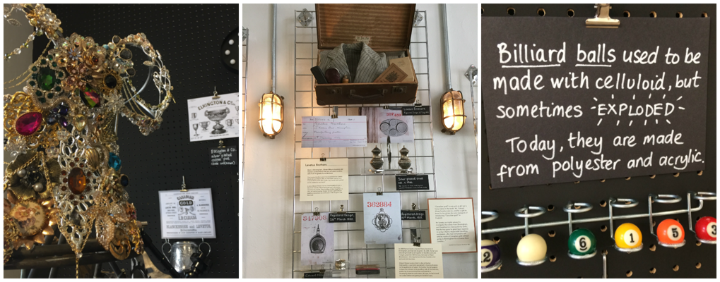 images  of some of the displays in the heritage room