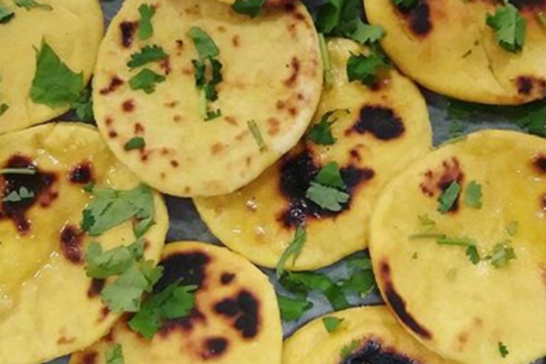 Image of home-made naan breads at The Hive
