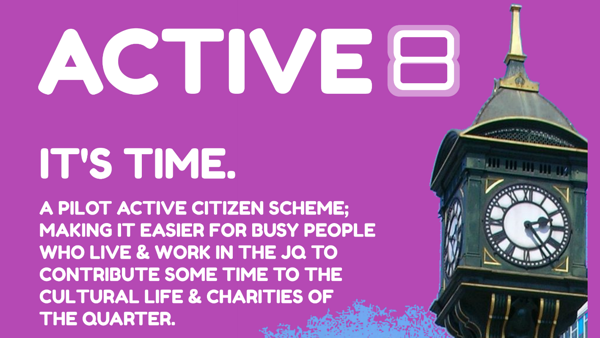 image about the Active8 active citizen scheme in the JQ.